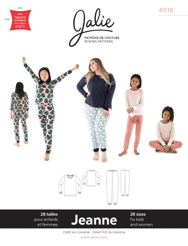 Jeanne Knit PJ Set Pattern by Jalie