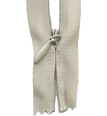 Make A Zipper Invisible 162in Long With 12 Zipper Pulls - Beige