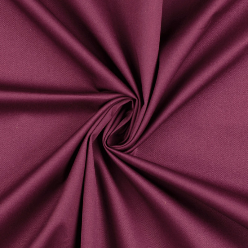Attica Plum Cotton Stretch Twill Fabric