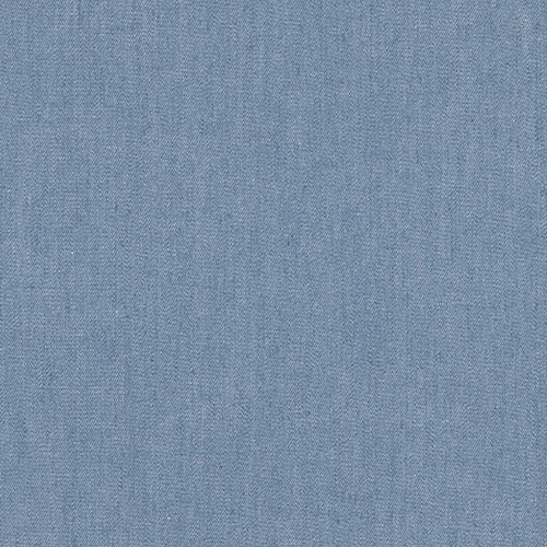 Springfield Light Blue Solid Denim Fabric