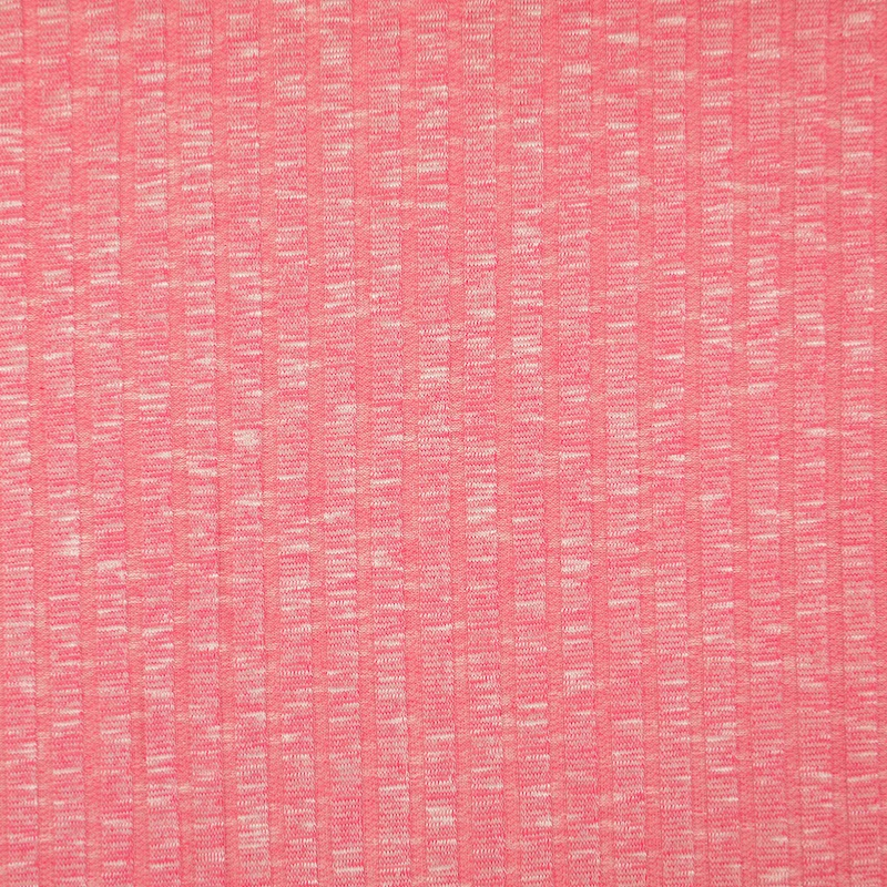Sete Pink Melange Summer Rib Knit Fabric