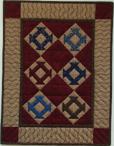 Miniature Quilt Kit - Hole in The Barn Door 17inx22in