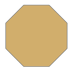 0.5 Inch Octagon Acrylic Template With 3/8 Seam - Paper Piecing