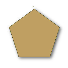 0.5 Inch Pentagon Acrylic Template With 3/8 Seam - Paper Piecing