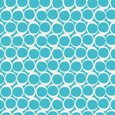 Round Elements Crystaline Blue - Art Gallery Fabric 44in/45in Per Metre
