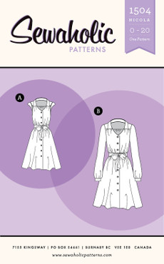 Nicola Dress Pattern - Sewaholic Patterns
