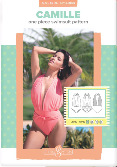 Camille One Piece Swimsuit by Sirena Patterns