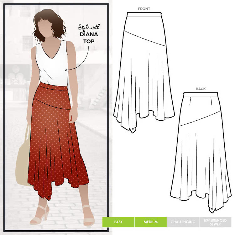 Canterbury Skirt Pattern Size 4-16 By Style Arc