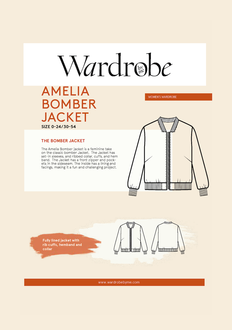 Amelia Bomber Pattern by Wardrobe By Me
