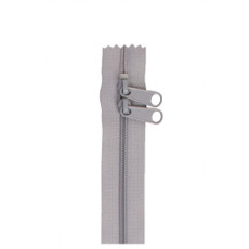 Double Slide Bag Zipper 30in Pewter