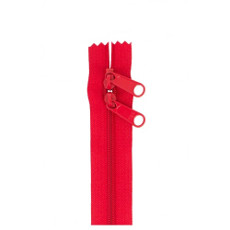 Double Slide Bag Zipper 30in Hot Red