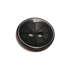 Acrylic Button 2 Hole Engraved 12mm Black