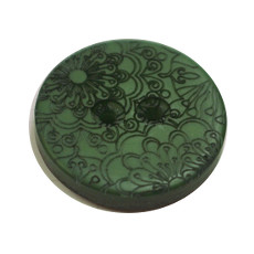 Acrylic Button 2 Hole Engraved 23mm Racing Green