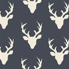 Hello Bear Buck Forest Twilight - Art Gallery Fabric 44in/45in Per Metre