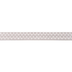 Medium Grey Foldover Elastic Spot - 16mm X 25m