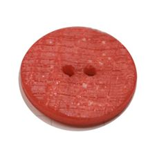 Acrylic Button 2 Hole Textured Speckle 23mm Red