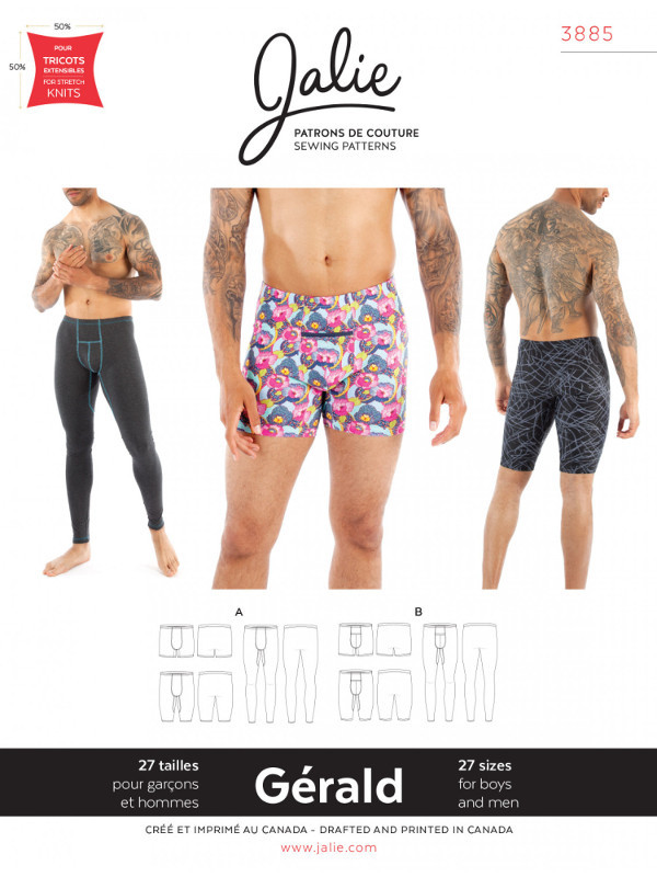 Gerald Underwear Pattern - Jalie Patterns