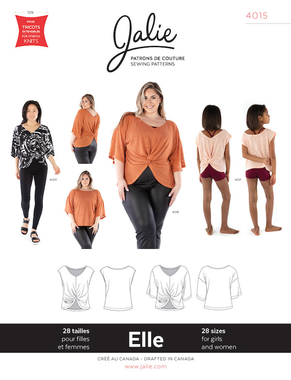 Elle Reversible Top Patterrn by Jalie