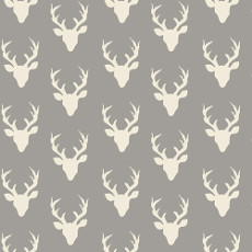 Hello Bear Tiny Buck Forest Mist Knit - Art Gallery Fabric 58in/60in Per Metre