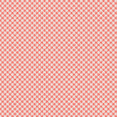 Les Petits Petits Checks Coral - Art Gallery Fabric 44in/45in Per Metre