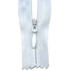Make A Zipper Invisible - 162in Long With 12 Zipper Pulls - White