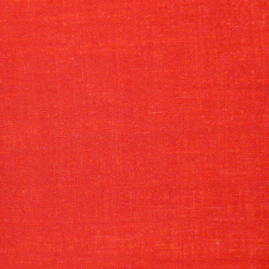 Brick Red Viscose Linen Slub Fabric