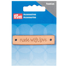 Prym Made With Love Leather Label Rectangular 60mm x 13mm 1 Piece