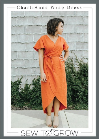 Charli Anne Wrap Dress Pattern By Sew to Grow