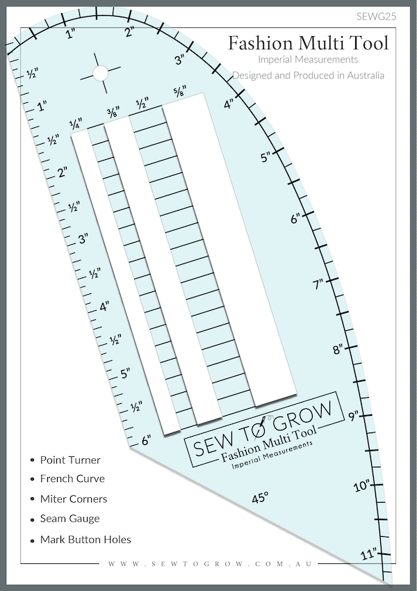 Fashion Multi Tool Ruler By Sew to Grow