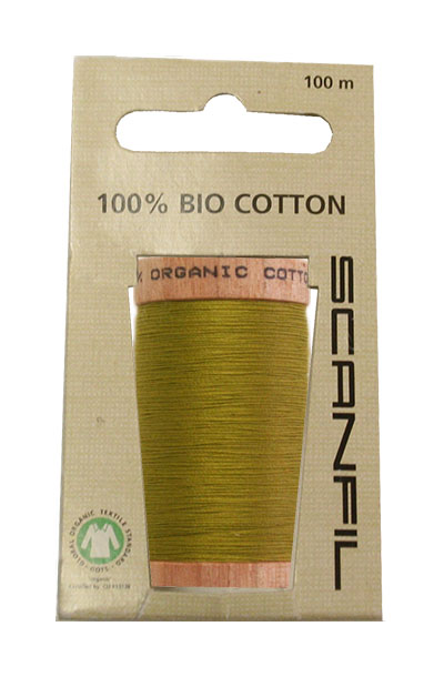 Scanfil Organic Thread 100 Metre Hang-sell - Chartreuse