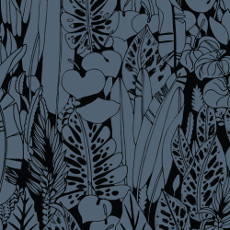 Birds Eye View Foliage Black - Cloud 9 Quilters Weight Fabric 44in/45in Per Metre