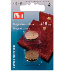 Prym Magnetic Snap 19mm Gold Coloured