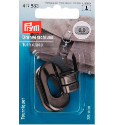 Prym Turn Clasp 35 X 20mm Antique Silver