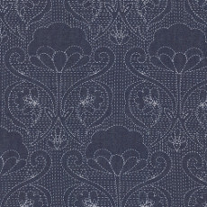 Stitched-ochi Denim Print - Art Gallery Fabric 58in/59in Per Metre, 100% Cotton, 4.5 Oz/sqm
