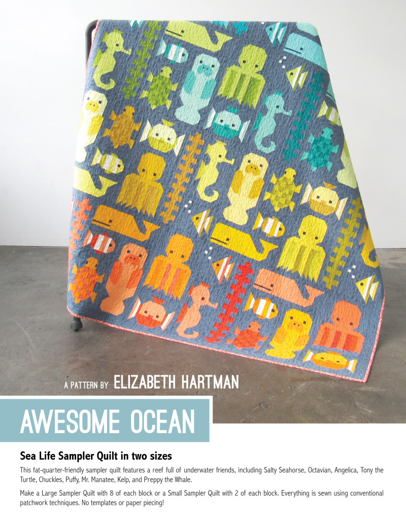 Awesome Ocean Quilt Pattern Book By Elizabeth Hartman
