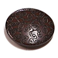 Acrylic Shank Button Embossed 15mm Chocolate