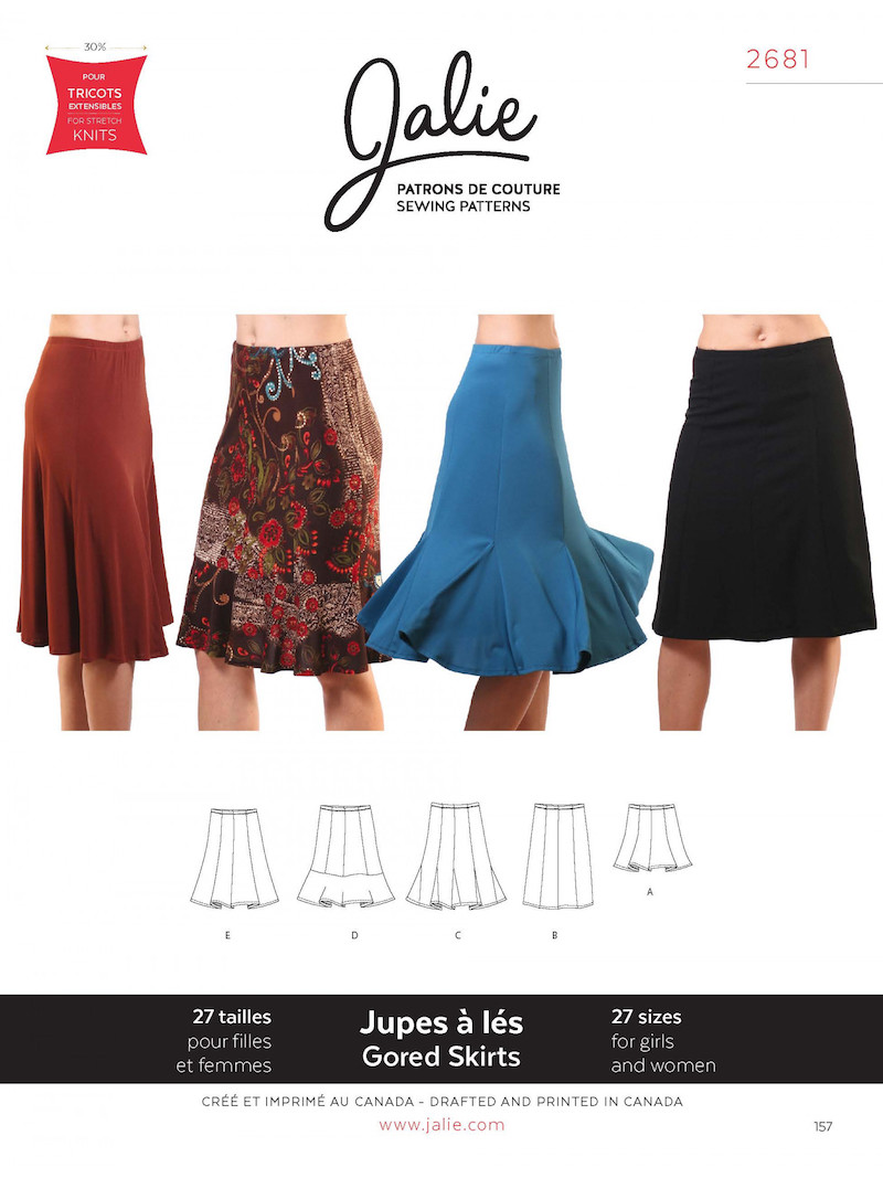 Knit Gored Skirt Pattern by Jalie