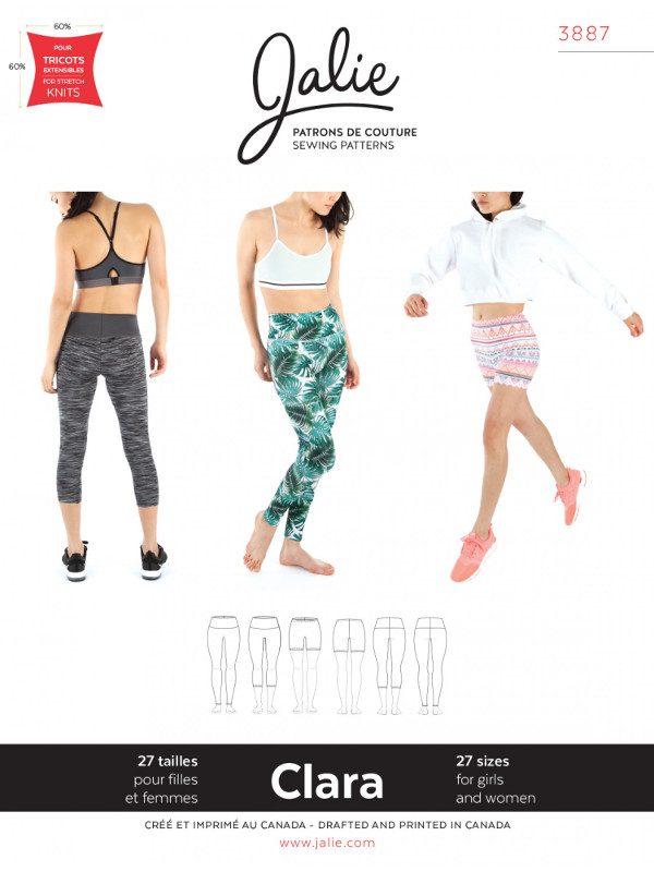 Clara High-Waisted Leggings Pattern - Jalie Patterns