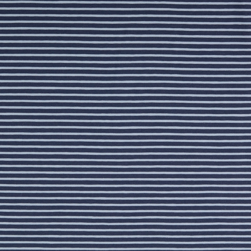 Nantes Navy and Blue Striped Knit Fabric