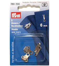 Prym Trouser And Skirt Hooks And Bars 6mm Silver Colour