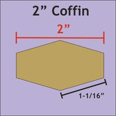 2 Inch Coffins 81 Pieces - Paper Piecing