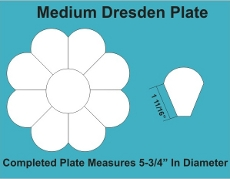 8in Dresden Small Pack 2 Complete Plates - Paper Piecing