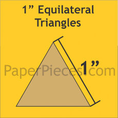 1 Inch Equilateral Triangles 100 Pieces - Paper Piecing
