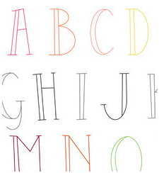 Skinny Letters - Sublime Embroidery Transfer