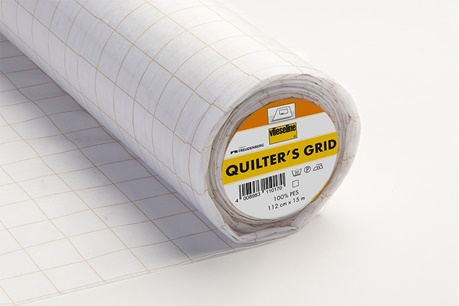 Vlieseline Fusible Quilters Grid 1in Square 15m Bolt