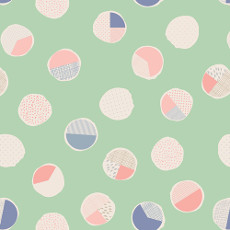 Wonderful Things Sweet Bubbles Mint - Art Gallery Fabric 44in/45in Per Metre