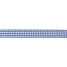 Cobalt Gingham Ribbon - 10mm X 47.5m