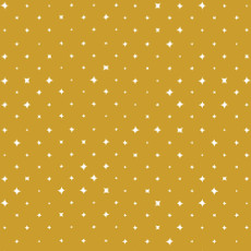We Are All Stars Ember Gold - Cloud 9 Quilters Weight Fabric 44in/45in Per Metre