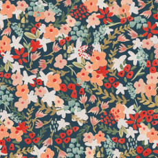 Frolic Wilder Navy - Cloud 9 Batiste 44in Per Metre