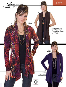 Pleated Cardigan And Vest Pattern - Jalie Patterns